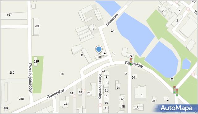 Mysiadło, Słowicza, 1B, mapa Mysiadło