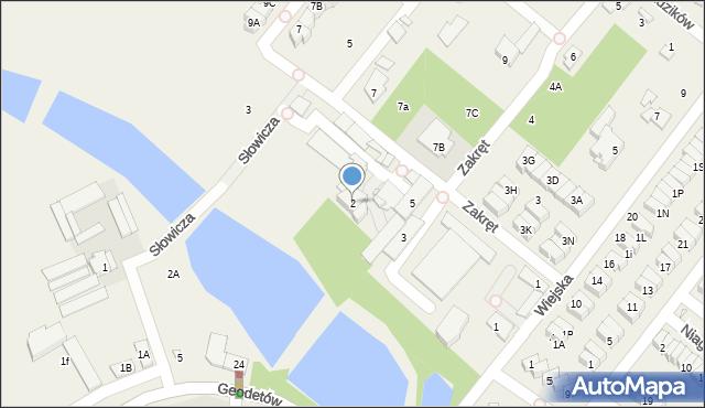Mysiadło, Słowicza, 2, mapa Mysiadło