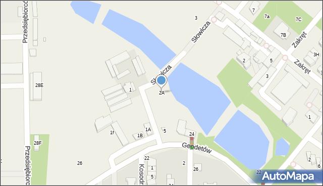 Mysiadło, Słowicza, 2A, mapa Mysiadło