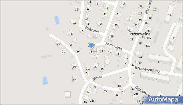 Opole Lubelskie, Słoneczna, 9, mapa Opole Lubelskie