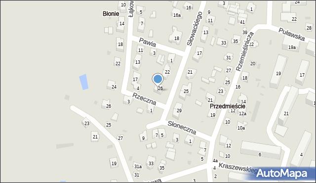 Opole Lubelskie, Słowackiego Juliusza, 28, mapa Opole Lubelskie