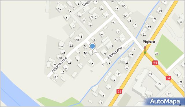 Piątnica Poduchowna, Słoneczna, 7, mapa Piątnica Poduchowna