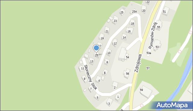 Rymanów-Zdrój, Słoneczny Stok, 15, mapa Rymanów-Zdrój