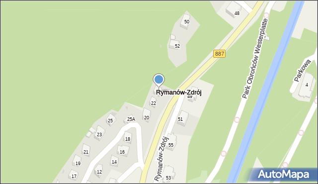 Rymanów-Zdrój, Słoneczny Stok, 24, mapa Rymanów-Zdrój