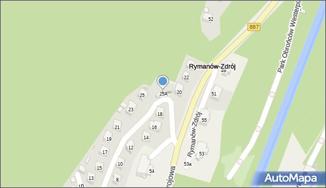 Rymanów-Zdrój, Słoneczny Stok, 25A, mapa Rymanów-Zdrój