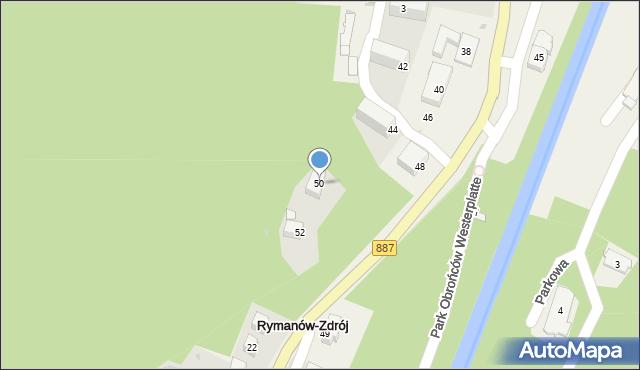 Rymanów-Zdrój, Słoneczny Stok, 50, mapa Rymanów-Zdrój