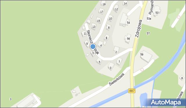 Rymanów-Zdrój, Słoneczny Stok, 7, mapa Rymanów-Zdrój