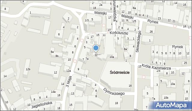 Rzeszów, Słowackiego Juliusza, 12, mapa Rzeszów