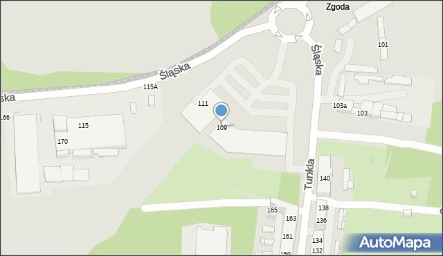 Świętochłowice, Śląska, 109, mapa Świętochłowice