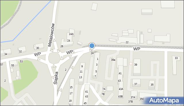 Świętochłowice, Śląska, 1A, mapa Świętochłowice