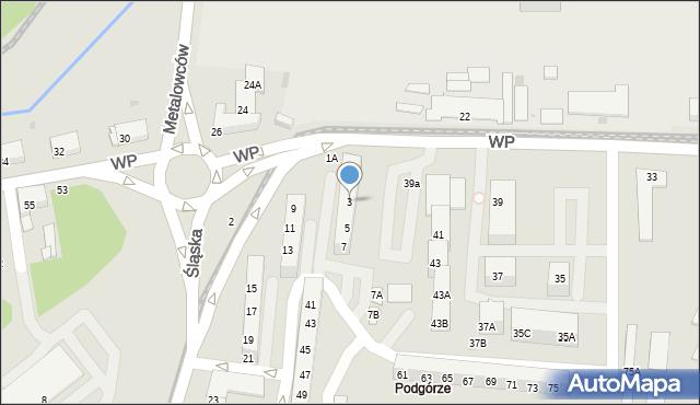 Świętochłowice, Śląska, 3, mapa Świętochłowice