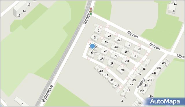 Świętochłowice, Ślęzan, 2s, mapa Świętochłowice