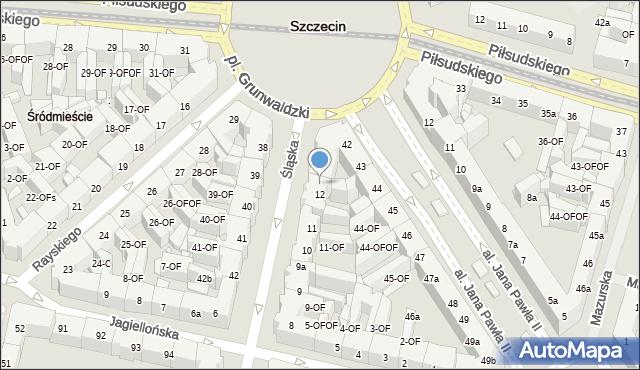 Szczecin, Śląska, 13, mapa Szczecina