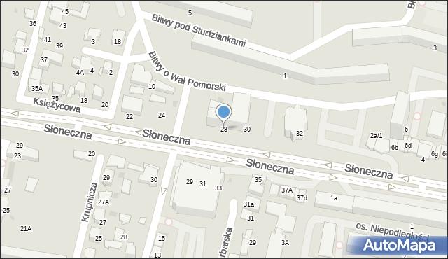 Tarnów, Słoneczna, 28, mapa Tarnów