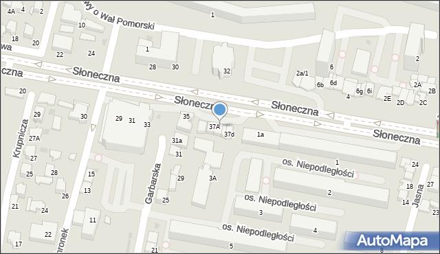 Tarnów, Słoneczna, 37B, mapa Tarnów