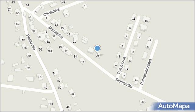 Tarnowskie Góry, Słomianka, 25, mapa Tarnowskie Góry