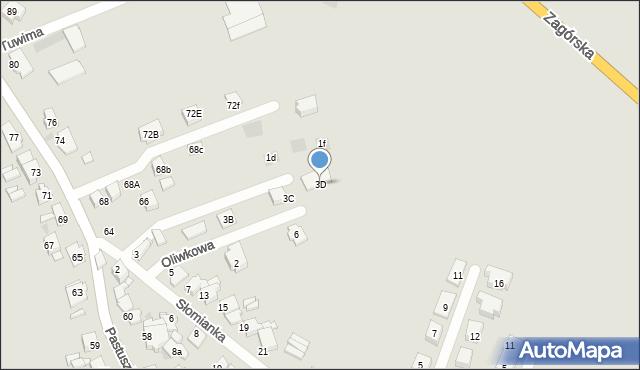 Tarnowskie Góry, Słomianka, 3D, mapa Tarnowskie Góry