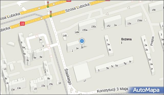 Toruń, Ślaskiego Ludwika, 1b, mapa Torunia