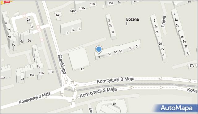Toruń, Ślaskiego Ludwika, 5, mapa Torunia