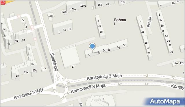 Toruń, Ślaskiego Ludwika, 5a, mapa Torunia