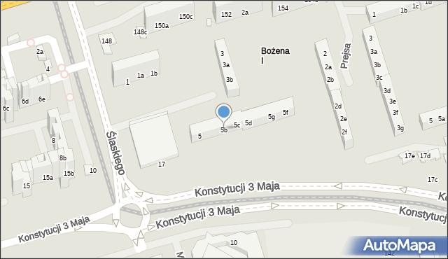 Toruń, Ślaskiego Ludwika, 5b, mapa Torunia