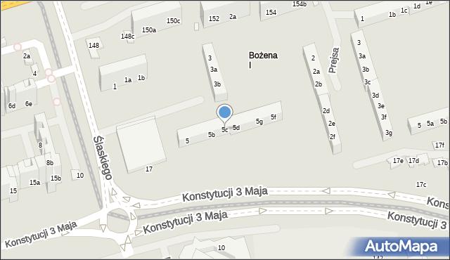 Toruń, Ślaskiego Ludwika, 5c, mapa Torunia