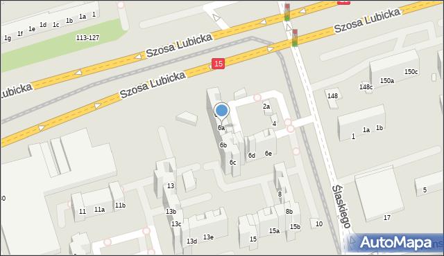 Toruń, Ślaskiego Ludwika, 6a, mapa Torunia