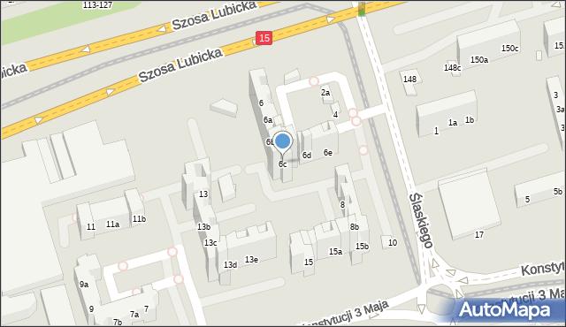 Toruń, Ślaskiego Ludwika, 6c, mapa Torunia