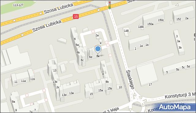 Toruń, Ślaskiego Ludwika, 6e, mapa Torunia