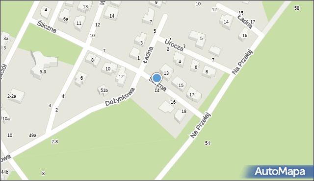 Toruń, Śliczna, 14, mapa Torunia