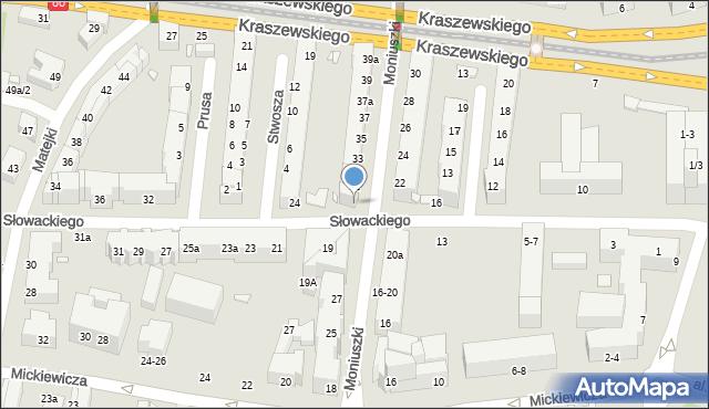 Toruń, Słowackiego Juliusza, 20, mapa Torunia