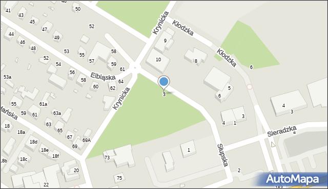 Toruń, Słupska, 3, mapa Torunia
