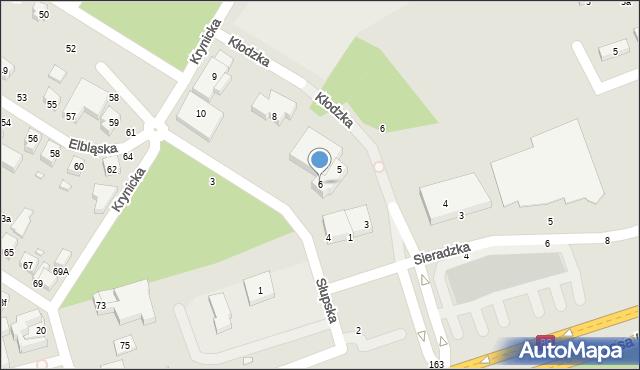 Toruń, Słupska, 6, mapa Torunia