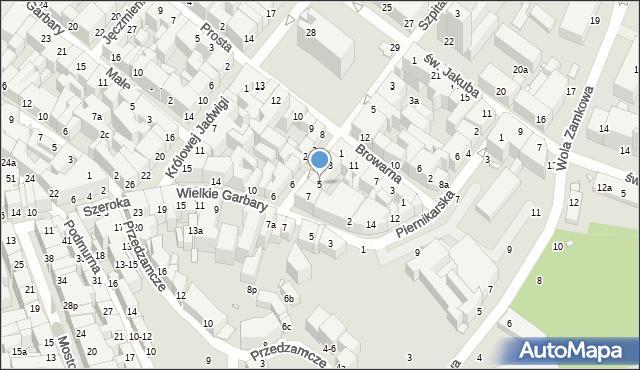 Toruń, Ślusarska, 5, mapa Torunia