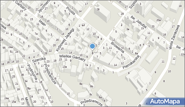 Toruń, Ślusarska, 6, mapa Torunia