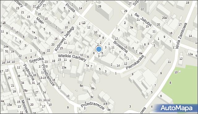 Toruń, Ślusarska, 7, mapa Torunia