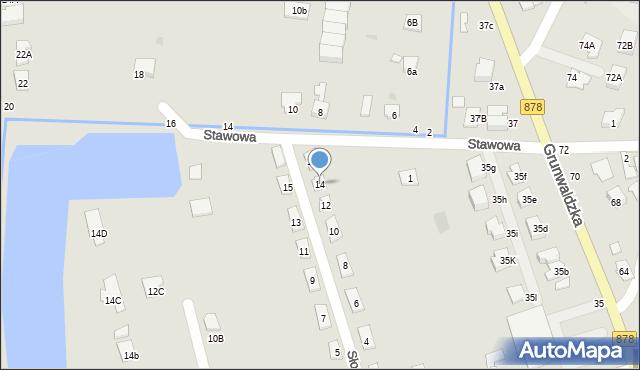 Tyczyn, Słoneczna, 14, mapa Tyczyn