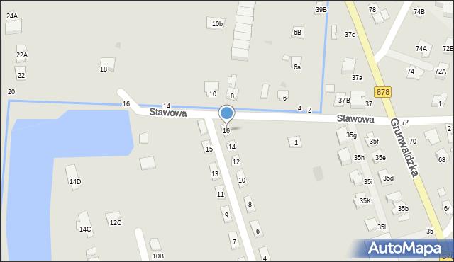 Tyczyn, Słoneczna, 16, mapa Tyczyn