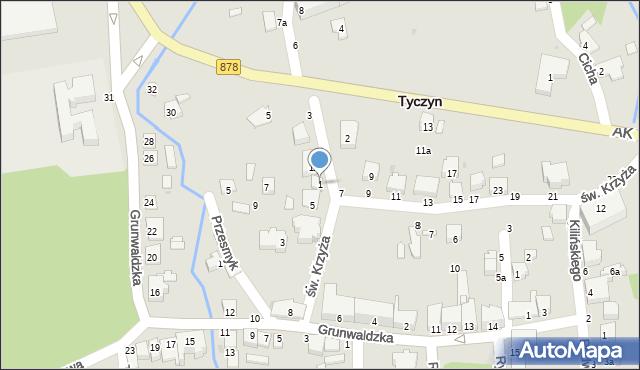 Tyczyn, Słowackiego Juliusza, 1, mapa Tyczyn