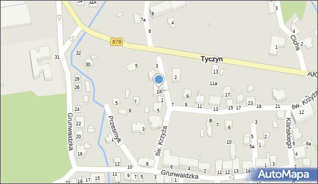 Tyczyn, Słowackiego Juliusza, 1A, mapa Tyczyn