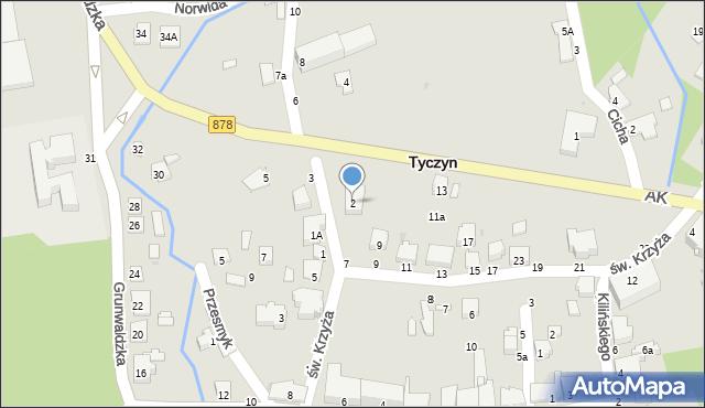 Tyczyn, Słowackiego Juliusza, 2, mapa Tyczyn