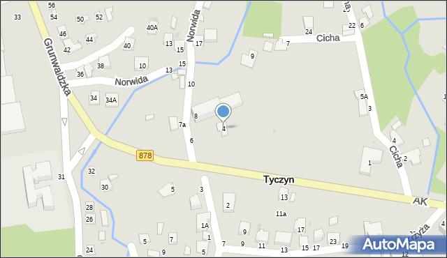 Tyczyn, Słowackiego Juliusza, 4, mapa Tyczyn