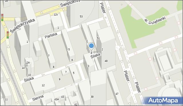 Warszawa, Śliska, 4, mapa Warszawy