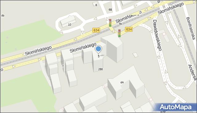 Warszawa, Słomińskiego Zygmunta, 5, mapa Warszawy