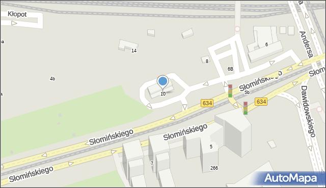 Warszawa, Słomińskiego Zygmunta, 10, mapa Warszawy