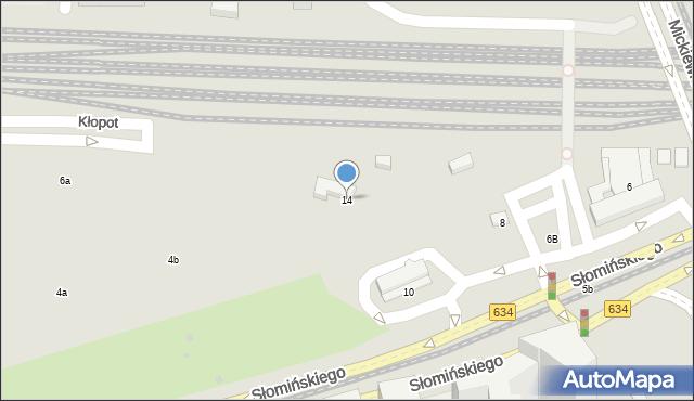 Warszawa, Słomińskiego Zygmunta, 14, mapa Warszawy