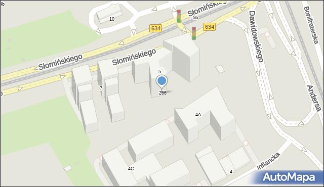 Warszawa, Słomińskiego Zygmunta, 266, mapa Warszawy