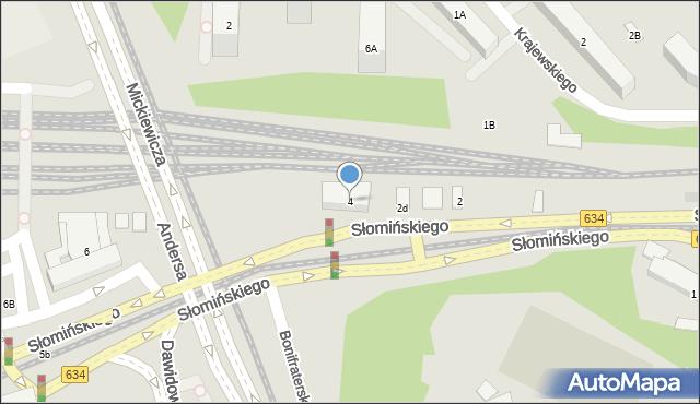 Warszawa, Słomińskiego Zygmunta, 4, mapa Warszawy