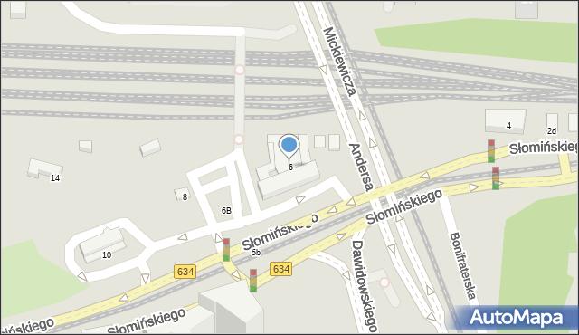Warszawa, Słomińskiego Zygmunta, 6, mapa Warszawy