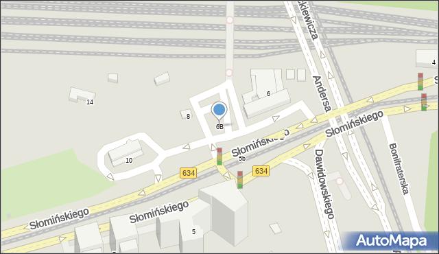 Warszawa, Słomińskiego Zygmunta, 6B, mapa Warszawy